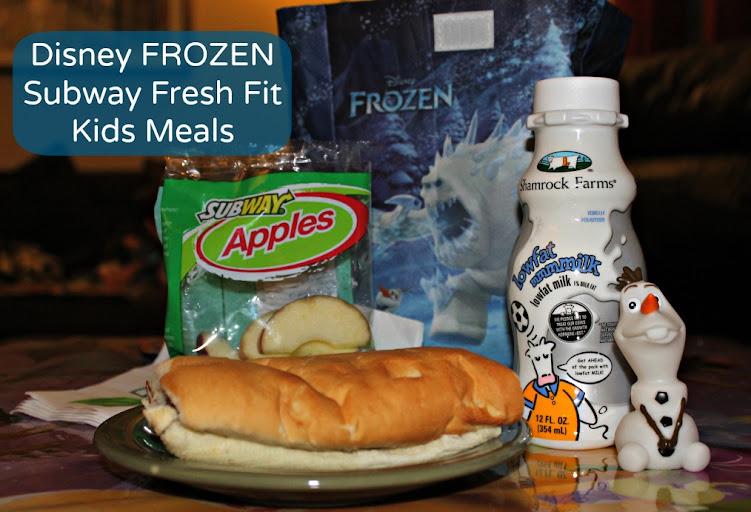 Disney FROZEN Subway Fresh Fit Kids Meals #FrozenFun #shop