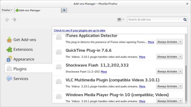 Verify Adobe Flash Player installation