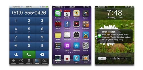 ayecon iPhone 4S Theme
