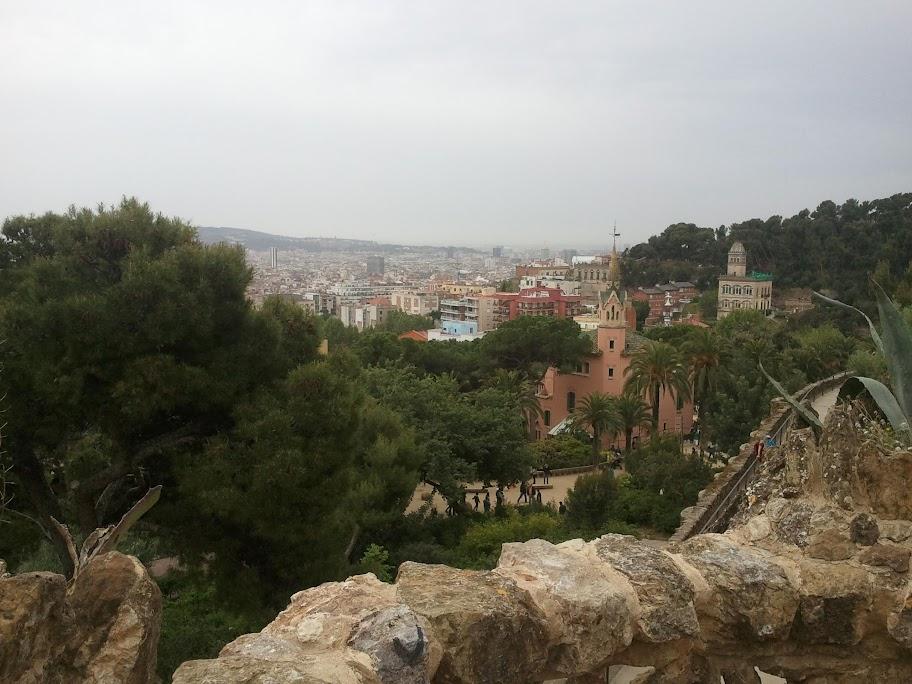 Utsikt över delar av Barcelona från Parc Güell