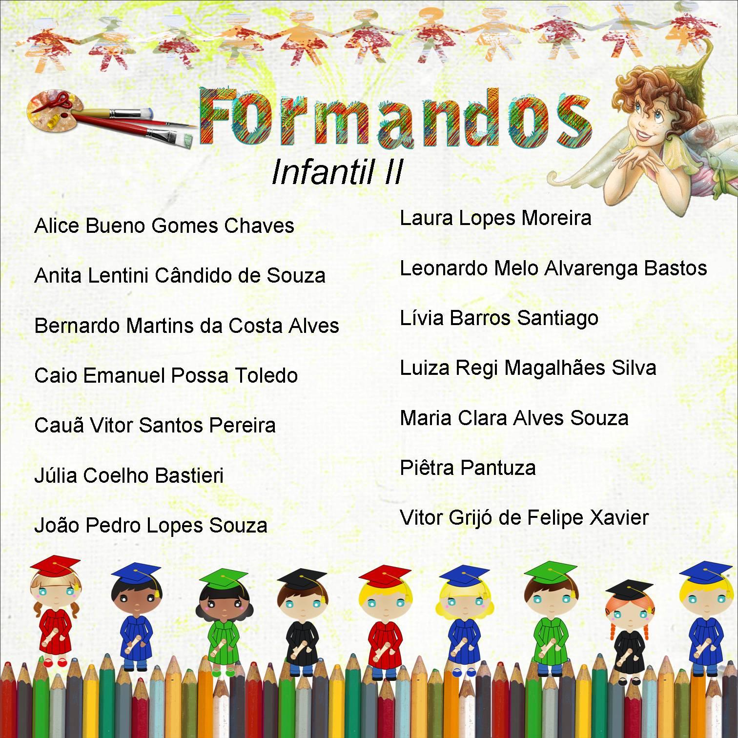 Populares Festejar!: Convite de Formatura Educação Infantil TL68