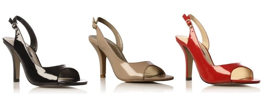 Nine West sling back patent court shoes