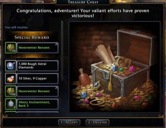 Gold skirmish reward
