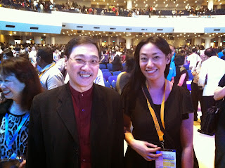 Rev. Edmund Chan with Trisha Sebastian in the Global Discipleship Congress