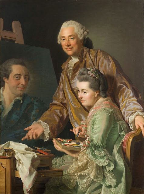 Alexander Roslin - Double portrait of Roslin and his wife, 1767