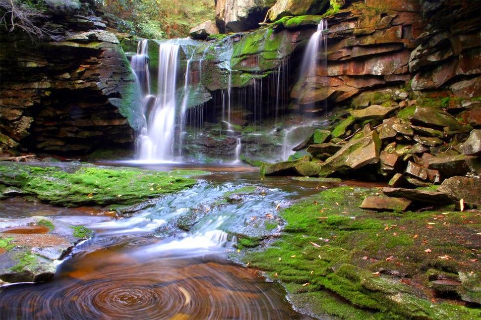 Водопад Элакала, Вирджиния, США, Красивые водопады планеты