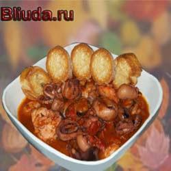 Суп с морепродуктами и кус-кусом