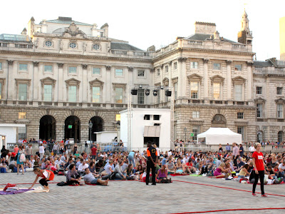 Outdoor cinema at Somerset House in London
