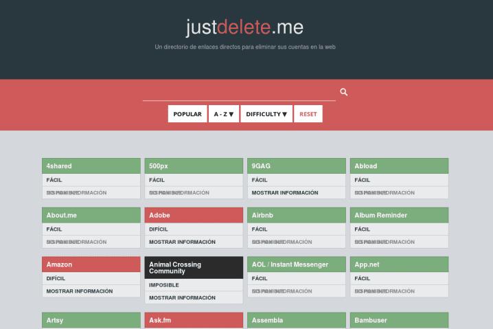 Just Delete Me, porque eliminar una cuenta no siempre es posible