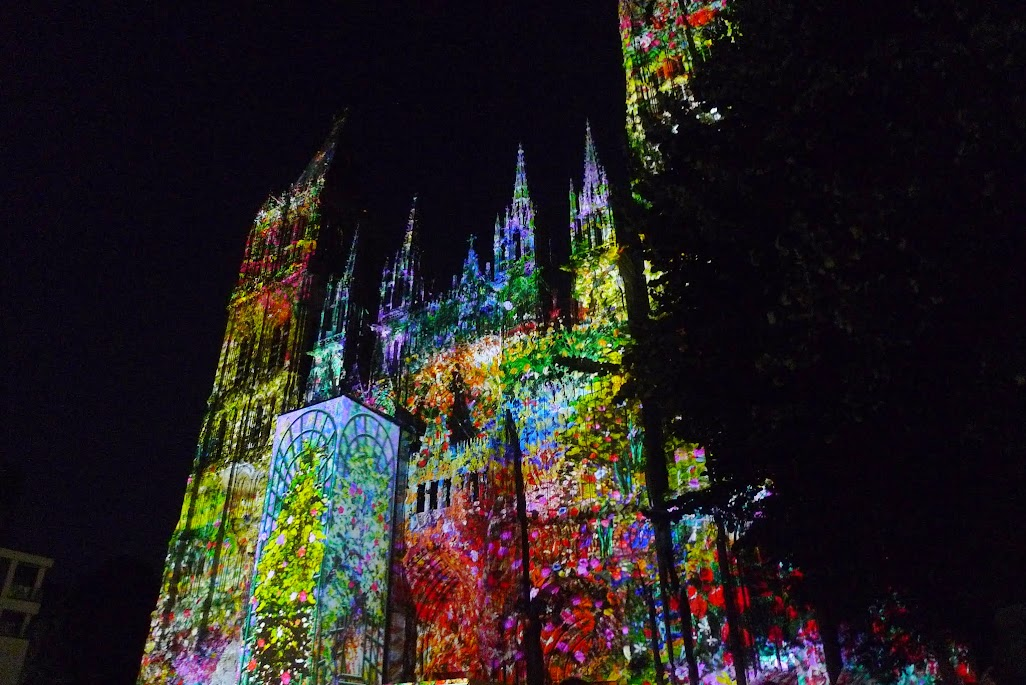 rouen illuminations cathédrale