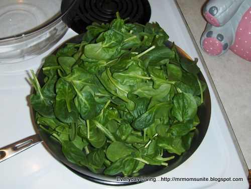 photo of the spinach uncooked