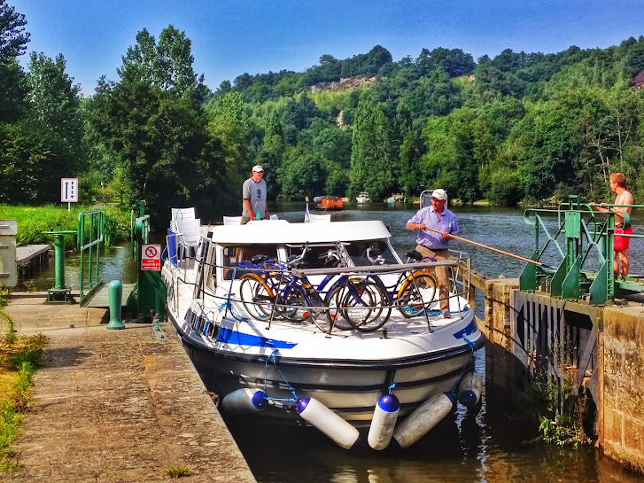 It's not all work and no play though, it takes 2 people to navigate through the canal locks of which appear every few kilometres or so.