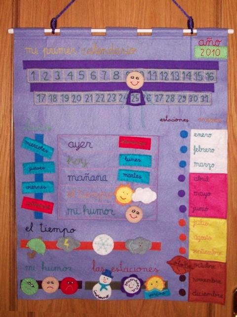 Mis cositas de manualidades mi primer calendario for Calendario manualidades