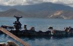 barco hundido en isla larga
