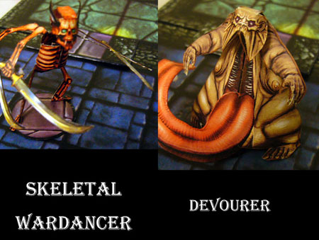Fantasy RPG Skeletal Wardancer Devourer Papercraft