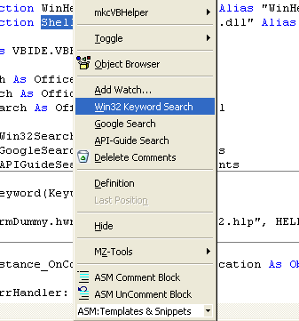 Win32 Keyword Search