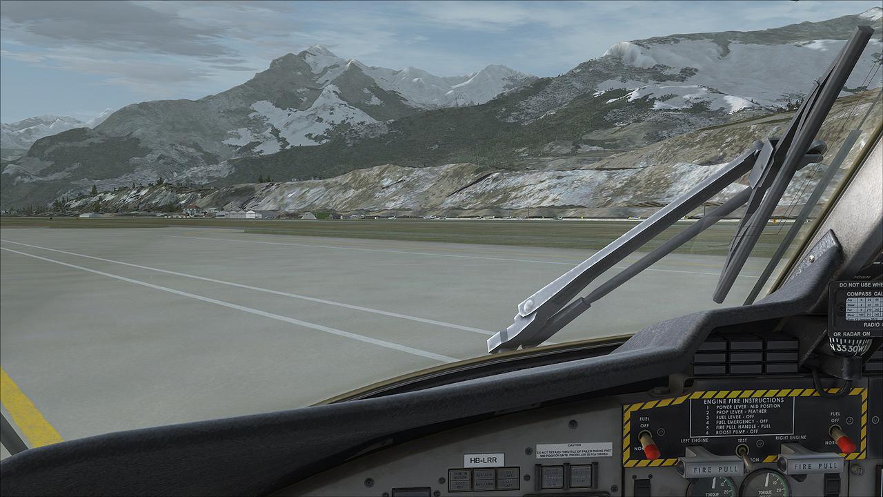 FSX vs P3Dv2 4, Sion ( LSGS), Switzerland