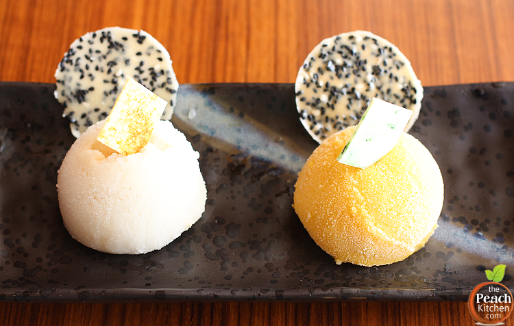 Desserts at Solaire: Yakumi's Mango and Guyabano Ice Cream