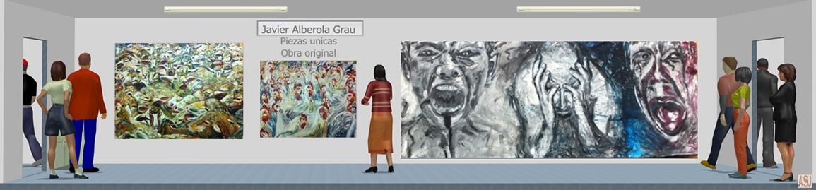 Sala de exposición virtual de Pinturas de Javier Alberola Grau