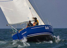 J/30 Rafiki- sailed by two teenage girls in Milwaukee