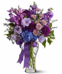 flowers, purple stuffs, Valentine's