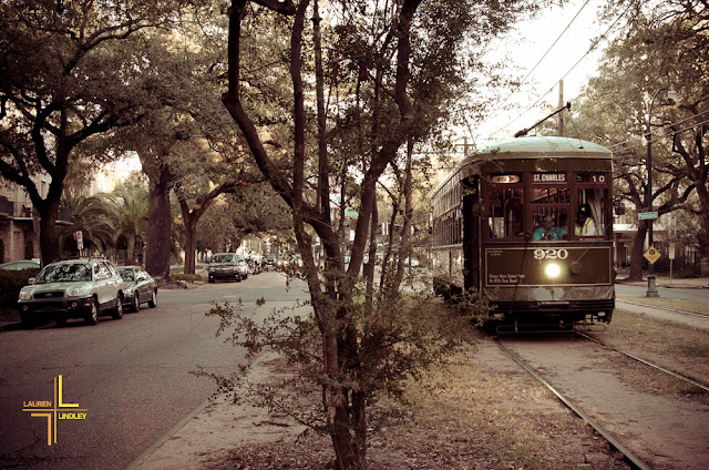 New Olreans, Street Car, Garden District, St. Charles St
