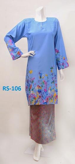 baju raya 2014 limited edition terkini biru fesyen baju kurung pesak gantung kain songket online murah