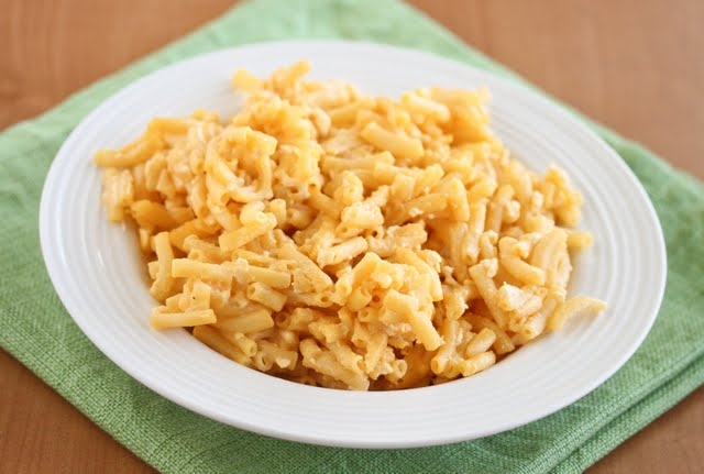 photo of a bowl of healthier macaroni and cheese