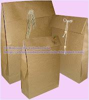 Bolsas hechas con papel kraft