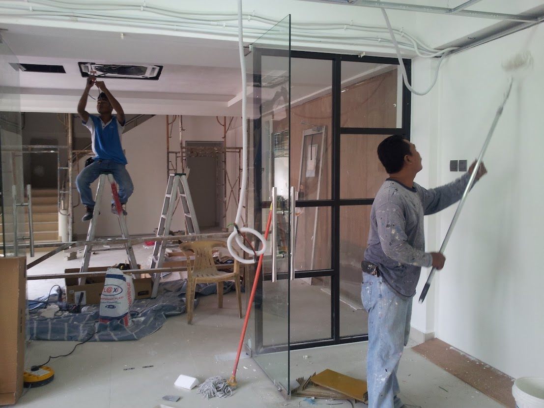 install air-cond and paint wall