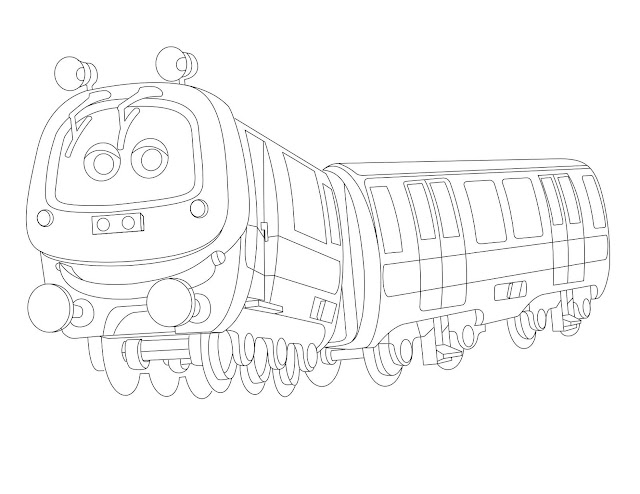 Chuggington: Emery Coloring Page