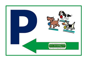 Dorset dog show car park left arrow A4 PDF