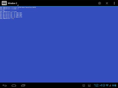 BusyBox da emulatore del terminale in Android
