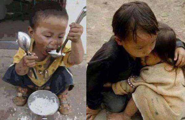 thơ em bé mồ côi đói khổ