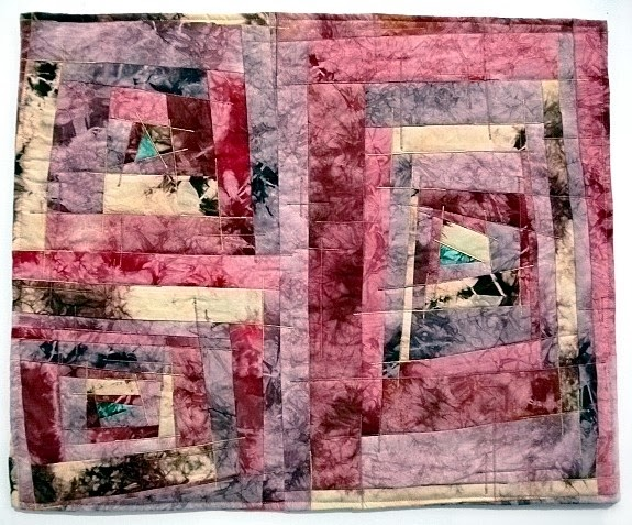 """""""Divergence: Phase II"""" by Sarah Merideth. Hand dyed and quilted cotton. $225.00"""