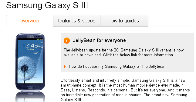 Actualizar samsung galaxy s 3 jelly beam