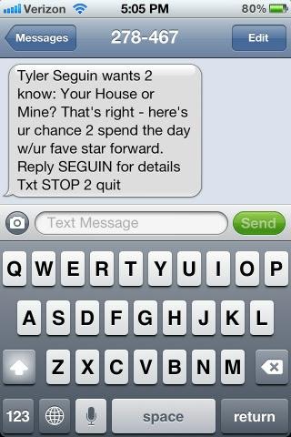 Tyler Seguin sexting