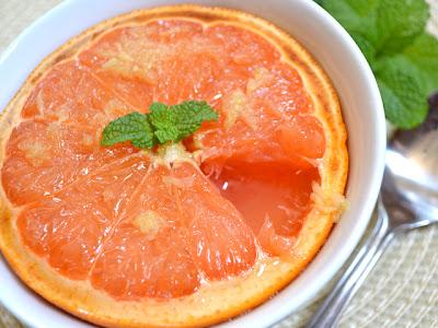 Honey Ginger Broiled Grapefruit