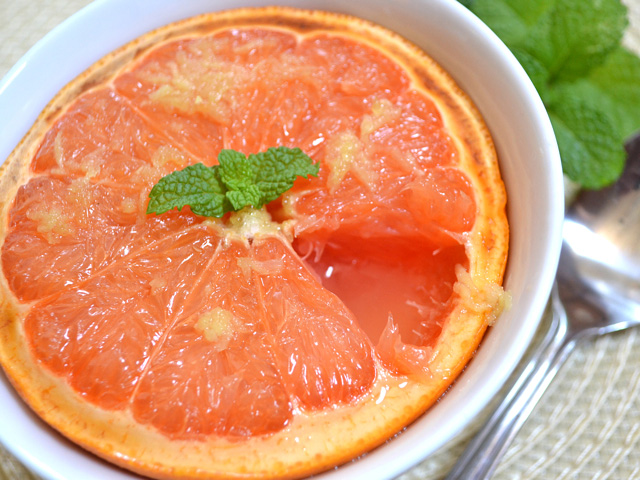 Broiled Grapefruit With Brown Sugar And Ginger Recipe — Dishmaps