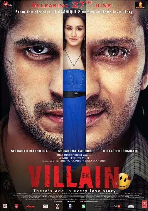 Poster Of Hindi Movie Ek Villain (2014) Free Download Full New Hindi Movie Watch Online At alldownloads4u.com