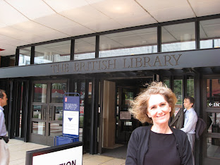 Mum at British Library in London