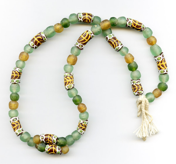 Traditional Strung Krobo Bead Necklace