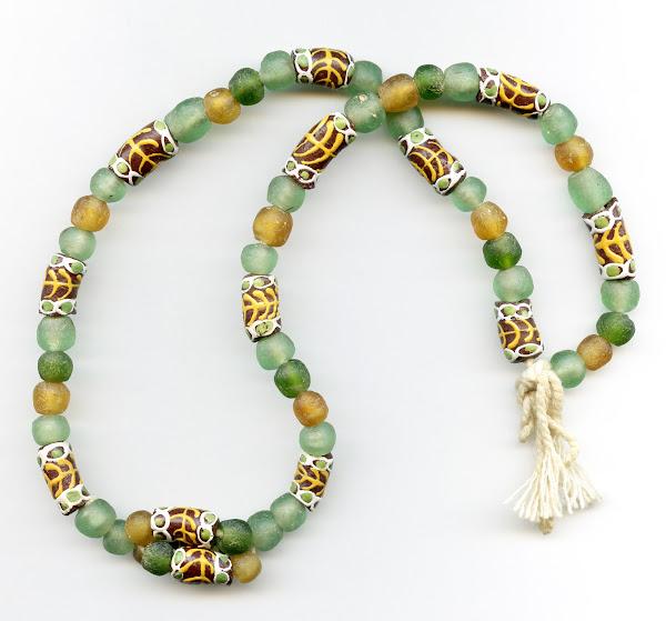 Traditional Strung Krobo Bead Necklace