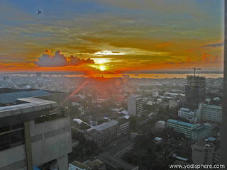 cebu city downtown view skyline sunset photo