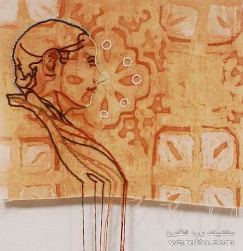 رسم وتطريز من اعمال الفنانه Amelia Harnas