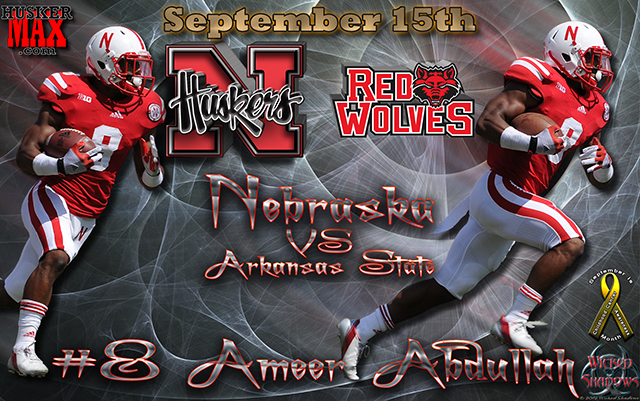 Nebraska Vs Arkansas State Gameday Wallpaper Featuring Ameer Abdullah