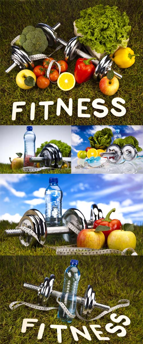 Stock Photo: Vitamin and Fitness diet, green grass