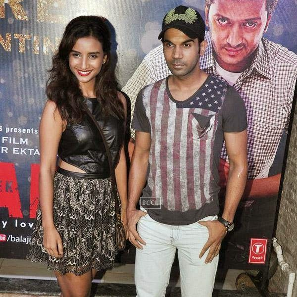 Patralekha and Rajkummar Rao at the success party of Bollywood movie 'Ek Villain', held at Ekta Kapoor's residence on July 15, 2014.(Pic: Viral Bhayani)