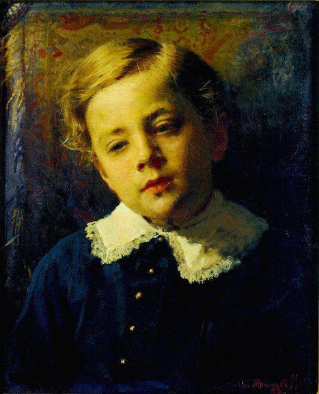 Ivan Kramskoy - Portrait of Sergey Kramskoy, the Artist's Son, as a Child