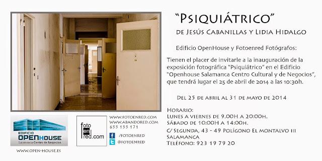 """Exposición fotográfica """"Psiquiátricos"""", de Jesús cabanilla y Lidia Hidalgo"""